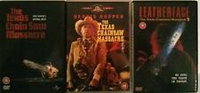 THE TEXAS CHAINSAW MASSACRE TRILOGY [1,2,3] Leatherface Cult Horror DVD *EXC*