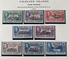 FALKLAND ISLANDS 5L1 - 5L8 2cnd Printing 1L13 Beautiful Mint NEVER Hinged Set AG