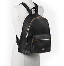 Coach Charles Backpack Large Black Leather F38288 NWT