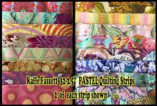 "Kaffe Fassett: Rare, OOP, 32 ~ 2.5"" Quilting Strips (Jelly Rolls) in PASTELS"