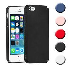 Schutz Hülle für Apple iPhone 5 / 5S / SE Handy Hard Cover Case Matt Metallic Bu