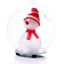 LED Farbwechsel Snowman,Glaskugel beleuchteter Schneemann,hängen oder stellen