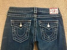 Women's Authentic True Religion Size 28 Jeans w/missing button RN# 112790