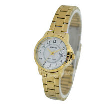 -Casio LTPV004G-7B Ladies' Analog Metal Watch New & 100% Authentic
