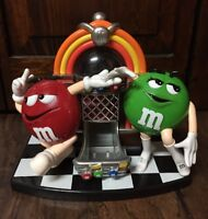 Mars Inc. M & M Rock-n-Roll Cafe Jukebox Collectible Candy Dispenser EUC