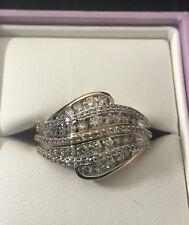 Michael Hill 10 Karat Yellow Gold Diamond Ring Combined TDW 1.00 Carat RRP $1799