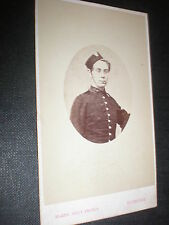 Cdv old photograph soldier by Blake brothers at Devonport c1870s