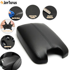 Car Armrest Center Console Lid Cover Leather For Honda Accord 2008 09-2012 Black