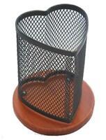 Klearex heart shape mesh pen & pencil cup holder office supplies desk accessory