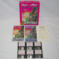 """Might and Magic Clouds of Xeen Big Box Vintage Computer Game 3.5"""" Floppies"""