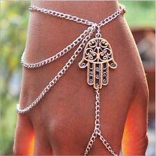 Fatimas Handkette Hamsa Kette Armband Fatimas Hand Orientalisch Farbe Silber 217