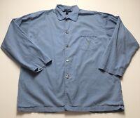 Polo Ralph Lauren Men's Blue Long Sleeve Button Down Shirt L Large Cotton Pony