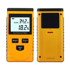 Digital LCD Inductive Wood Moisture Meter Humidity Tester Timber Damp Detector