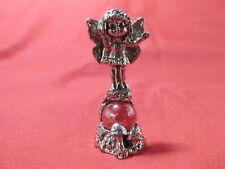 Pewter Fairy With Mushrooms Figurine