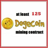 at least 125 Dogecoin 3 hours Dogecoin (DOGE) Cryptocurrency mining contract