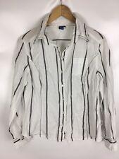 CECIL Bluse, weiß schwarz gestreift, Größe M, 100% Baumwolle