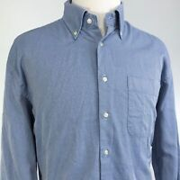 PETER MILLAR LONG SLEEVE BLUE BUTTON DOWN COTTON SHIRT MENS SIZE XL