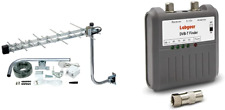TV Aerial, SLx Megaboost High Gain Outdoor 27885R4 Compact Amplified Aerial Kit