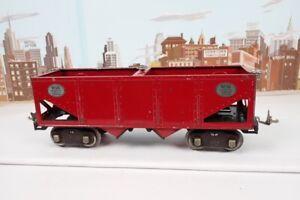 Unique Vintage Prewar Lionel Standard Gauge No.516 Red Nickel Trim Hopper Car