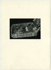 Antique Print-GENRE-BASKET-LEAVES-Ebert-1976