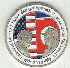 Donald Trump Kim Jong Un II Gold Coin I Singapore Summit to stop World War III
