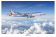 "Convair 990 American Airlines Aviation Art Print 16"" x 24"""