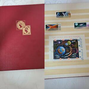 Antik Briefmarkenalbum Nachlass Briefmarken Sammlung Album Weltweit