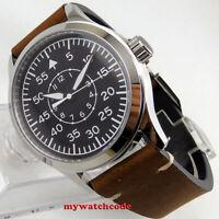 42mm corgeut black dial luminous sapphire glass Mechanical automatic mens watch