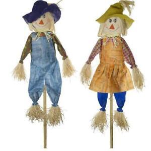2 x 156cm LARGE Stick Scarecrow Halloween Decor Deter Birds Pests Garden Lawn