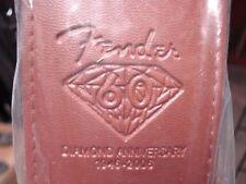 "Fender GUITAR STRAP. 60th Anniv Mdl. 2.5"" Wide. -BROWN- NEW  12 FREE PICKS"