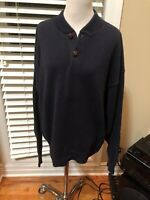 Mens Vintage 90's DARK Navy Blue Sweater By Authentic Issue Size Large