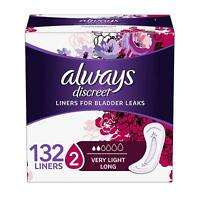 , Incontinence Liners for Women, Very Light, Long Length, 44 Count - Pack of 3 (