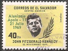 El Salvador Air Post Stamp - Scott #C259/A189 40c Yellow & Black Canc/LH 1969
