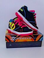heelys propel 2.0 skate shoes size UK3 black neon multi with box style 770512