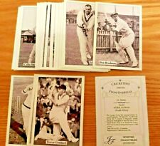 Set 36 Cricketers Of The World 1940/50's From Overseas Sporting Collectables