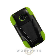 Samsung R480 Freeform 5 Hybrid Case w/ Stand Black/Neon Green Cover Protector
