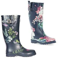 Trespass Elena Ladies Wellington Waterproof Floral Boots Womens Festival Wellies