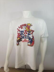 Vintage Fruit of the Loom Borden T Shirt I Love Crazy Milk L Large USA Made