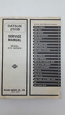Nissan Datsun 200B Model 810 Series Factory Service Manual Issued May 1977
