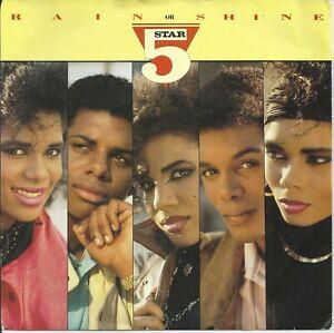 "Five Star - Rain Or Shine 7"" Vinyl Single 1986"