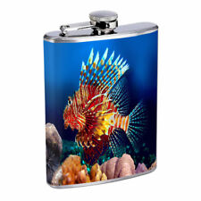Sea Life D10 Flask 8oz Stainless Steel Hip Drinking Whiskey