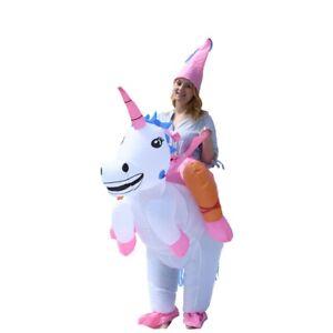 ALEKO Halloween Inflatable Party Costume - Princess Unicorn Rider - Adult Sized