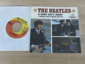 Beatles Original 1964 Hard Days/Known Capitol Records Picture Sleeve NM w/45