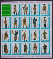 R812. Ajman - MNH - Military - Uniforms - Full Sheet - Imperf