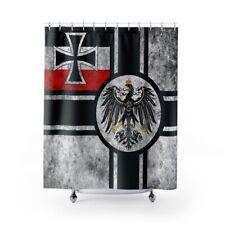 WWI German Imperial War Flag Shower Curtain Reichkriegsflagge Iron Cross Eagle