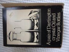 DARLINGTON CRYSTAL OIL AND VINEGAR BOTTLES HANDMADE IN ENGLAND NEW IN BOX