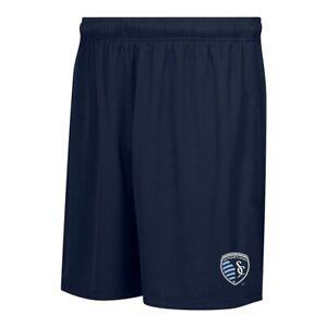 Sporting Kansas City MLS Licensed Men's Team Logo Navy Blue Mass Soccer Shorts