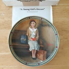 A Young Girl's Dream Norman Rockwell collectors plate American Dream series