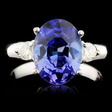CERTIFIED $4832 14K Gold 3.07ct Tanzanite & 0.30ctw Diamond Ring