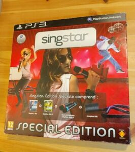 Jeux Singstar Édition Speciale Sony PS3 Complet 2 Micros sans fil PAL Wireless
